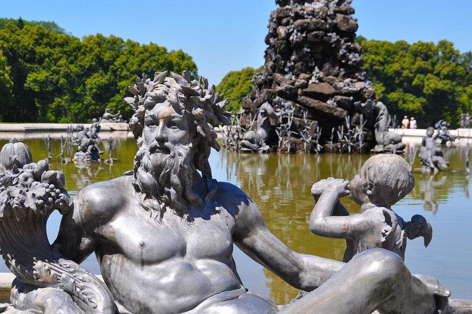 Fountain, Schlosspark Herrenchiemsee, Herrenchiemsee