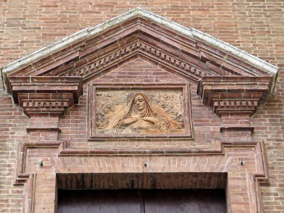 Italy, Hers, Sainte-catherine, Pediment, Parish Church