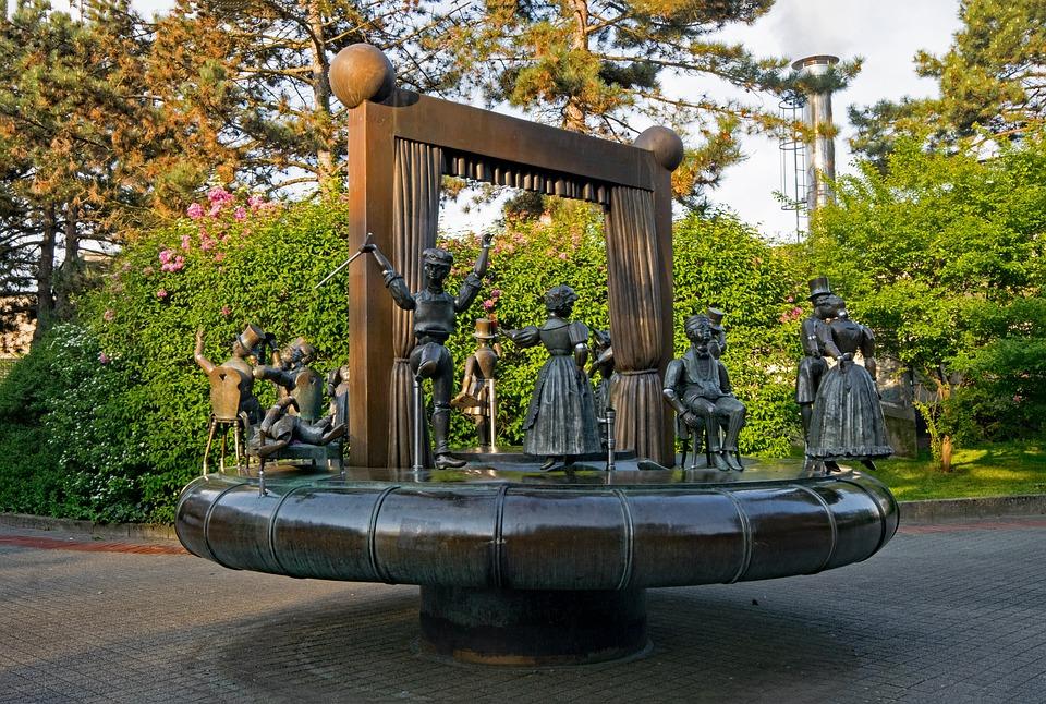 Darmstadt, Hesse, Germany, Datterich Fountain