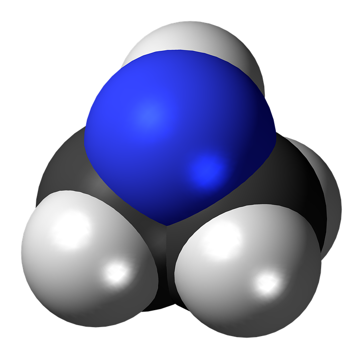 Aziridine, Molecule, Nitrogen, Heterocycle, Spacefill