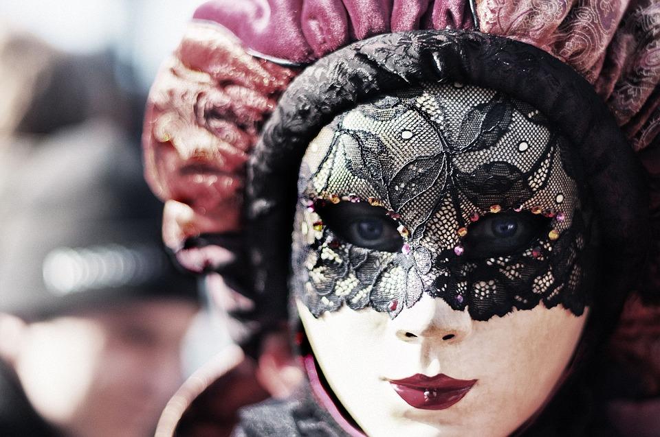 Carnival, Venice, Eyes, Mask, Woman, Disguise, Hidden