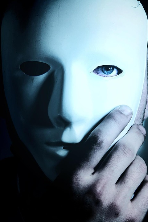 Man, Mask, Blue Eyes, Hand, Mystery, Anonymous, Hidden