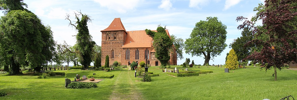 Church, High Churches, Cemetery, Summer, Germany