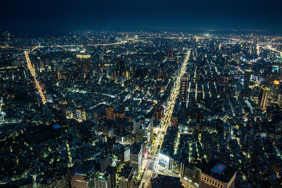 Taiwan, City, Cityscape, Travel, High, Sky, Modern
