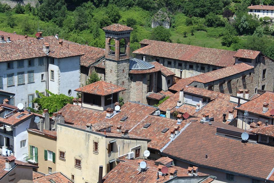 Bergamo, High City, Historical Centre, Lombardy, Italy