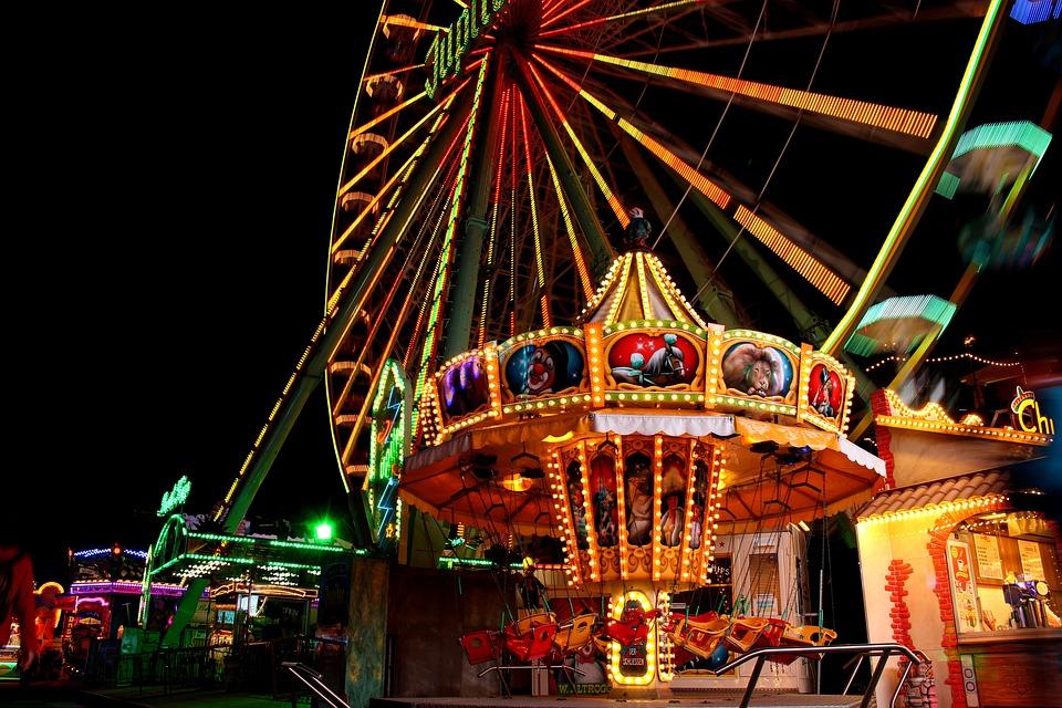 Travel, Carousel, Festival, High Feeling, Illuminated