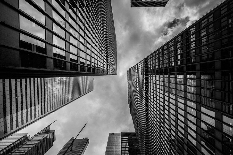 Buildings, Towers, High Rises, Architecture, City, Dark