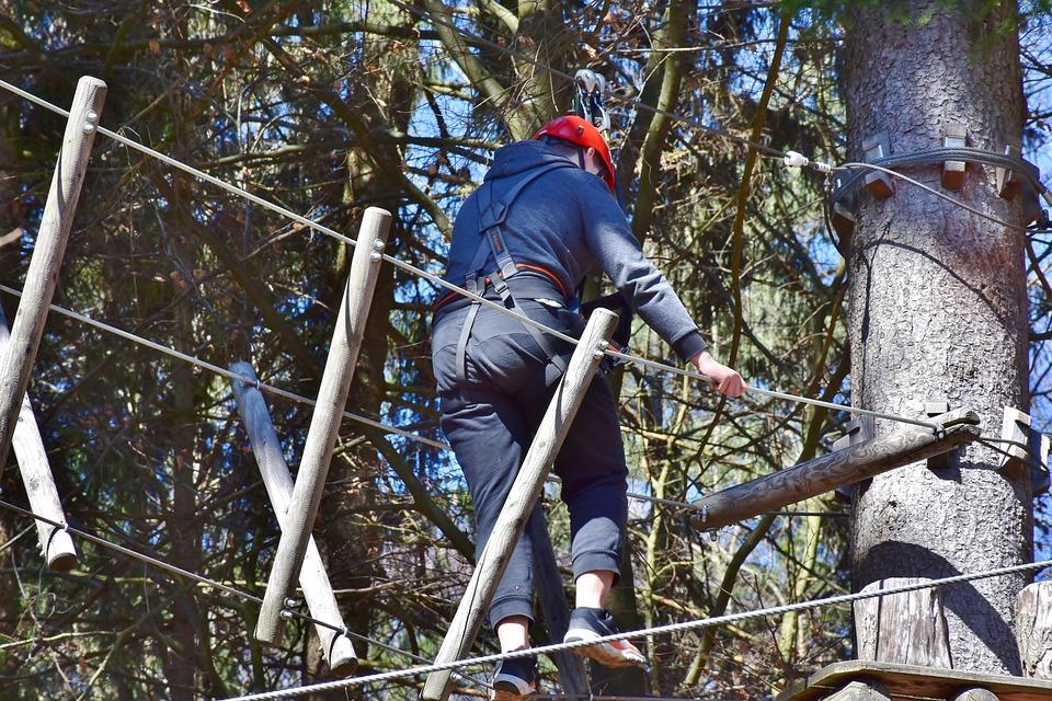 Climb, High Ropes Course, Climbing Garden