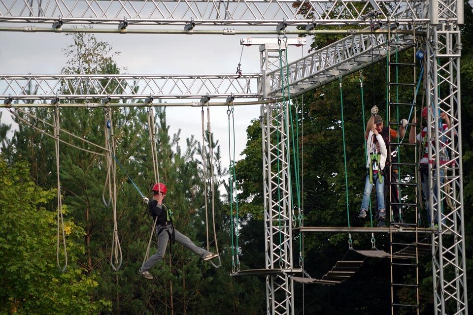 High Ropes Course, High Ropes, Climb, Climbing Garden