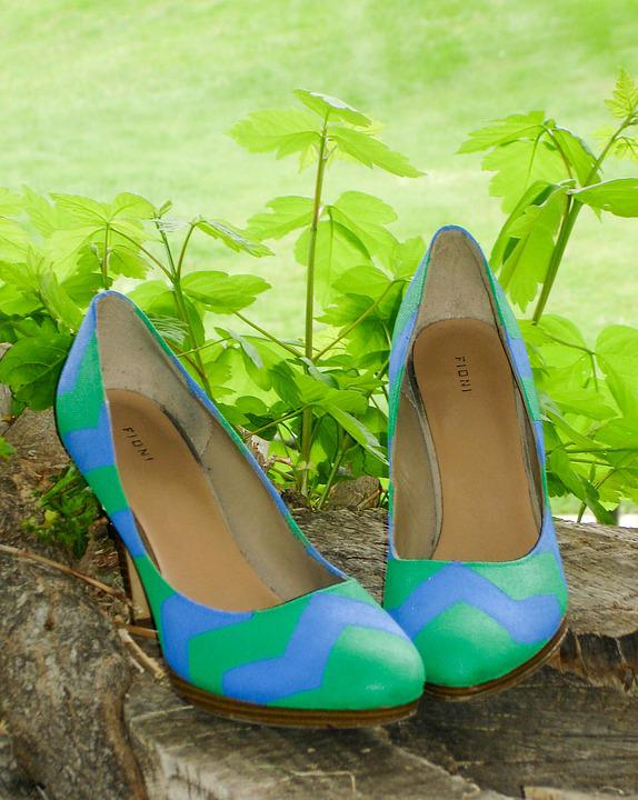Shoes, Pumps, Easter, Floral, Heel, High, Fashion