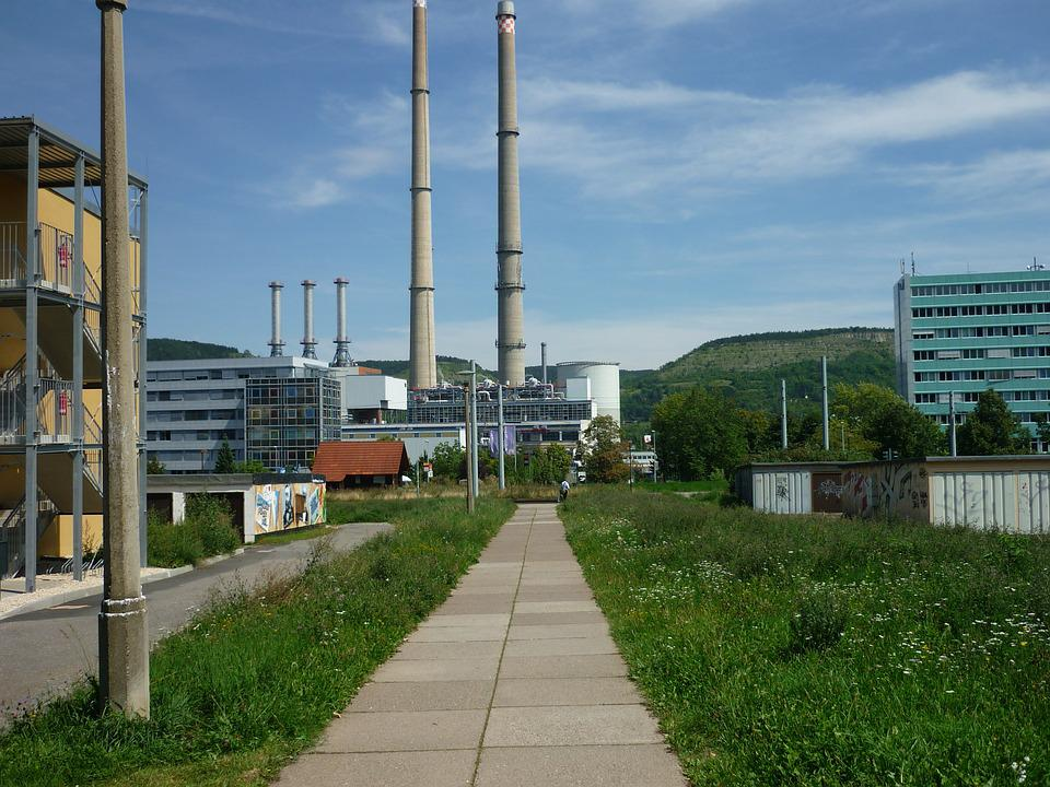 Factory, High, Chimneys, Factory Plant, Away, To Work