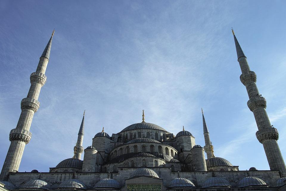 Cami, Minaret, High, Istanbul, Turkey, Architecture