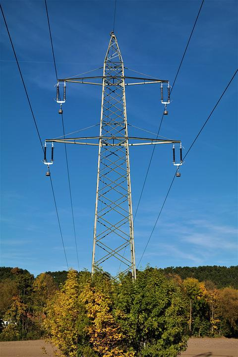 Strommast, Power Line, Electricity, High Voltage