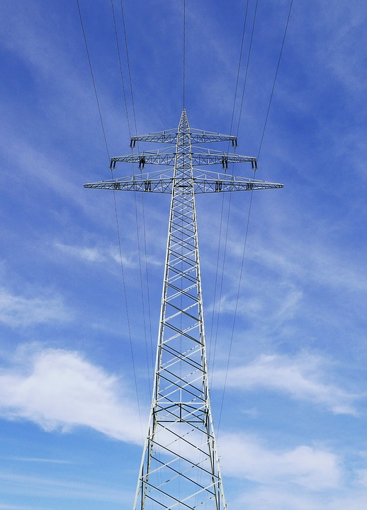 High Mast, Power Line, High Voltage, Sky, Tower