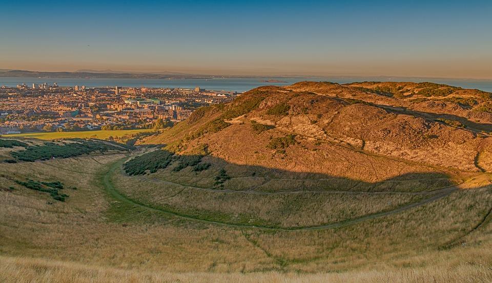 Edinburgh, Highlands, Scotland, Mountain, Sunset