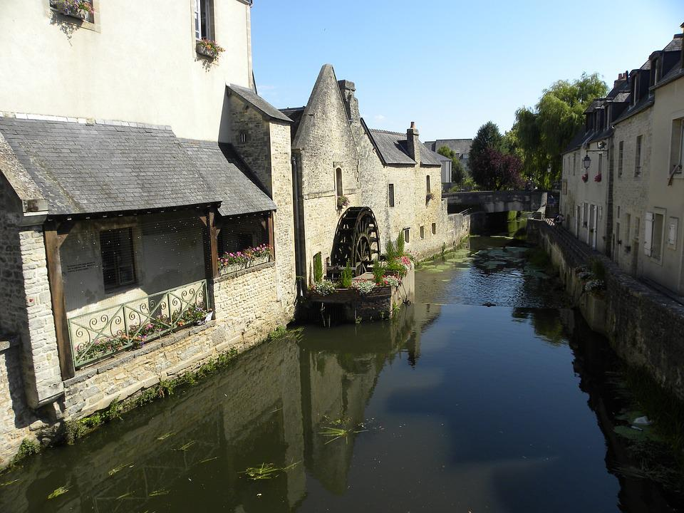 Bayeux, Mill, Highlights, River, Old House, Rustic