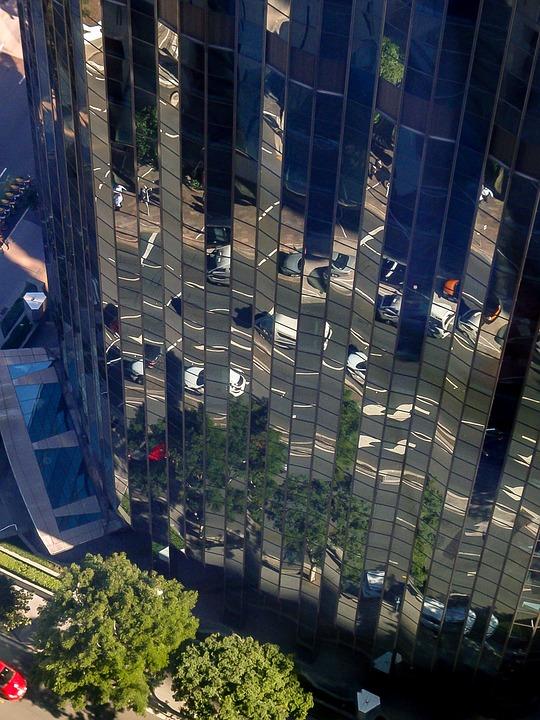 City, Building, Highrise, Brisbane, Facade, Glass