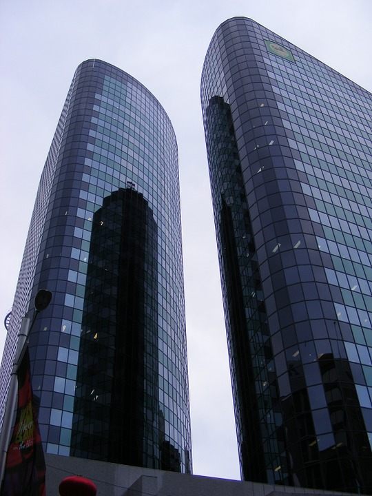 Building, Tower, Reflections, Highrise, Architecture