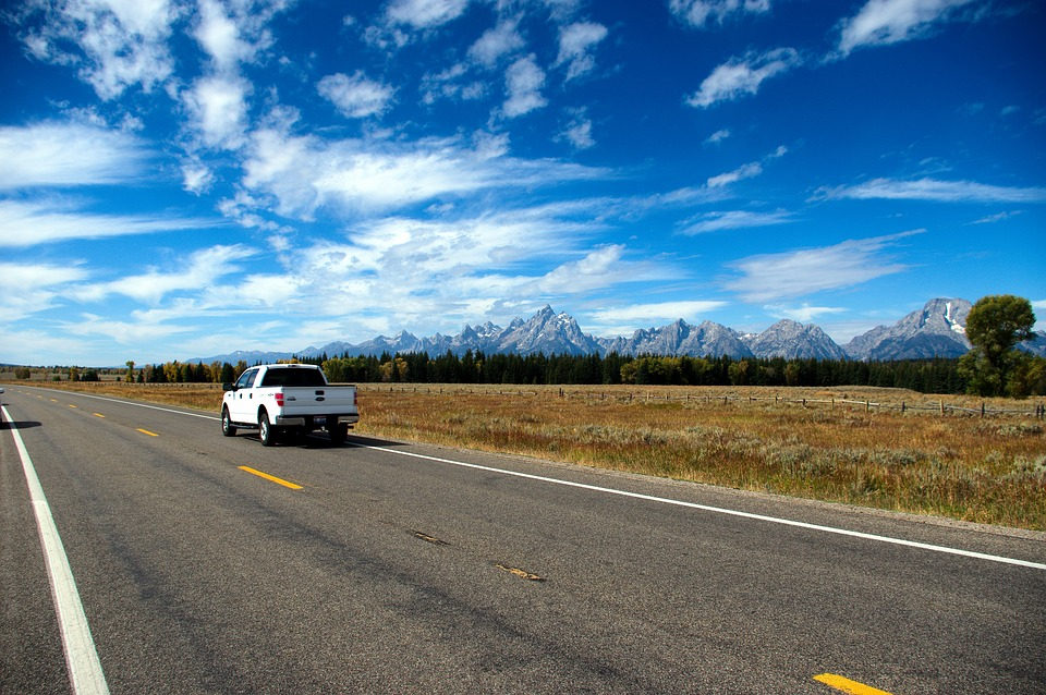Highway 191 In The Tetons, Highway, Road, Grand, Teton