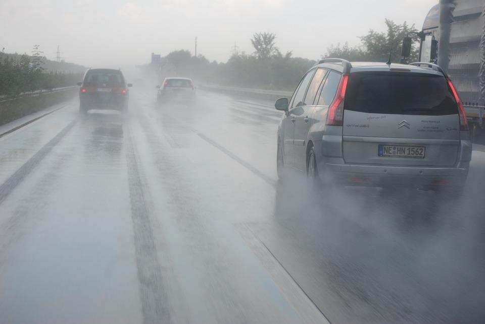 Hydroplaning, Highway, Germany, Asphalt, Driving School