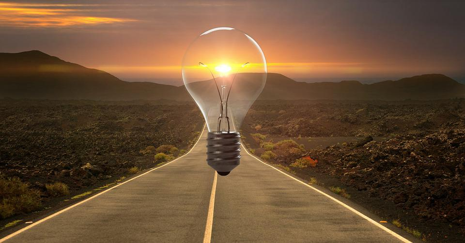 Highway, Lightbulb, Idea, Innovation, Creativity