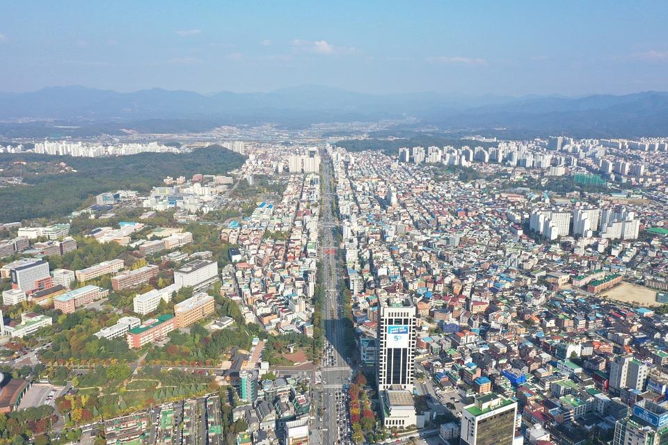 Highway, City, Aerial, Road, South Korea, Jeonju
