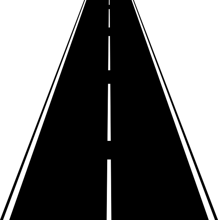 Road, Street, Highway, Freeway, Black, White, Straight