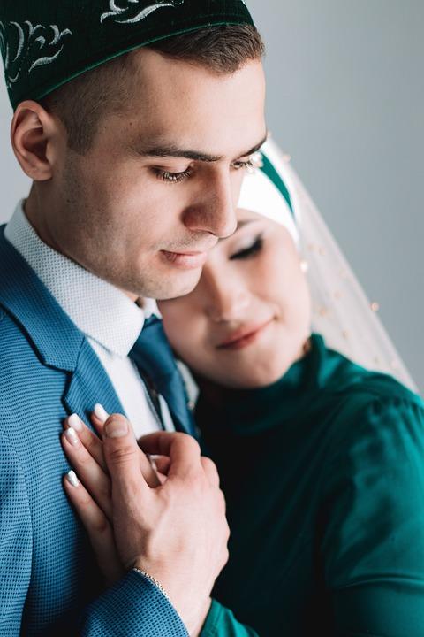 Wedding, Couple, Islam, Love, Marriage, Hijab, Groom