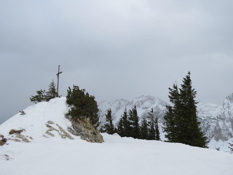Breitenberg, Summit, Summit Cross, Hike, Snow, Cold