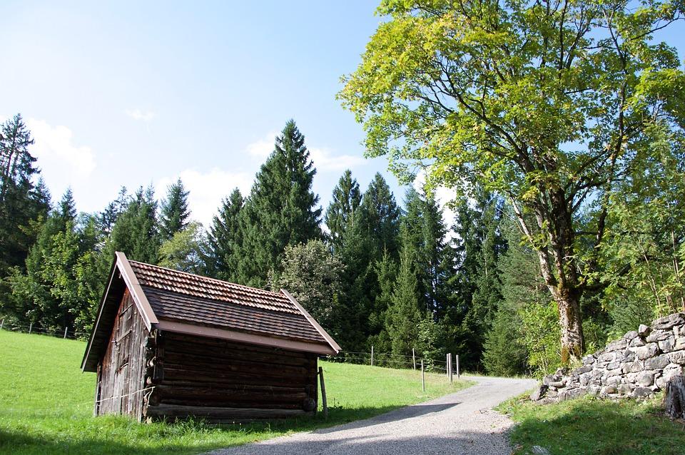 Hut, Hike, Trail, Mountains, Alpine, Steep, Summer, Sun