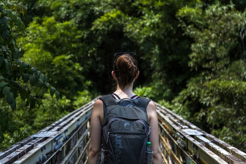 Backpack, Female, Hiker, Outdoors, Person, Woman