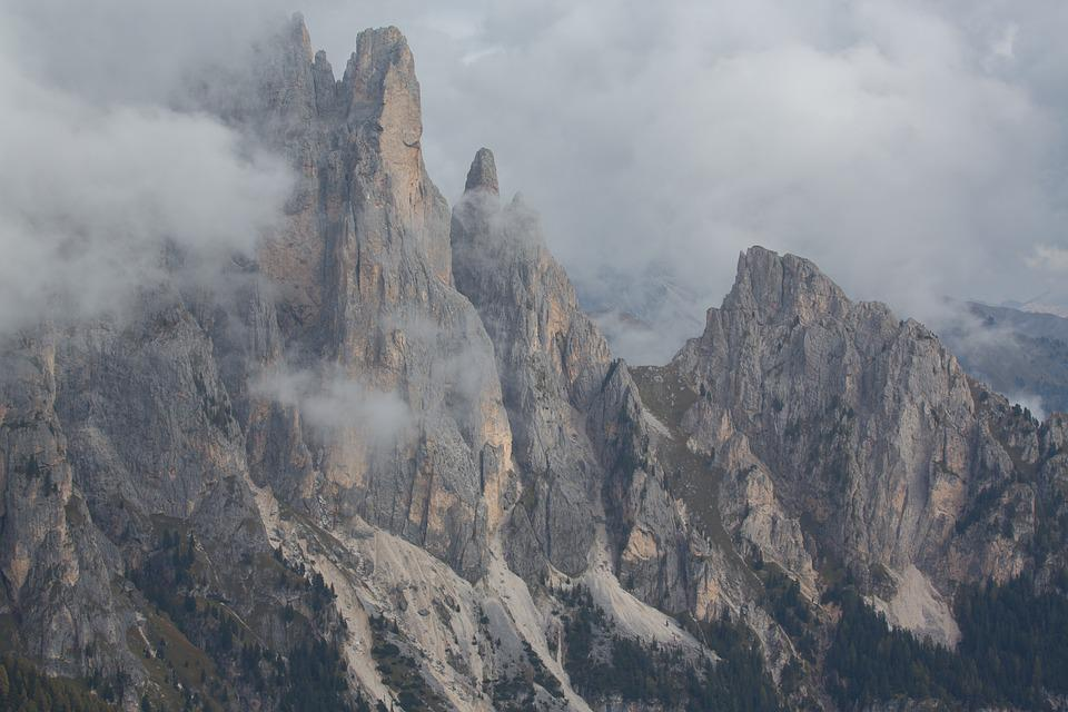 Mountains, Clouds, Hiking, Dolomites, Excursion