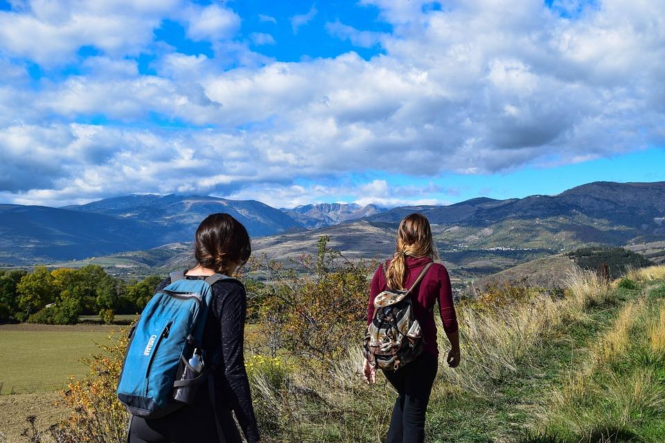 Hiking, Outdoors, Ski, Blue, Nature, Person, Hike