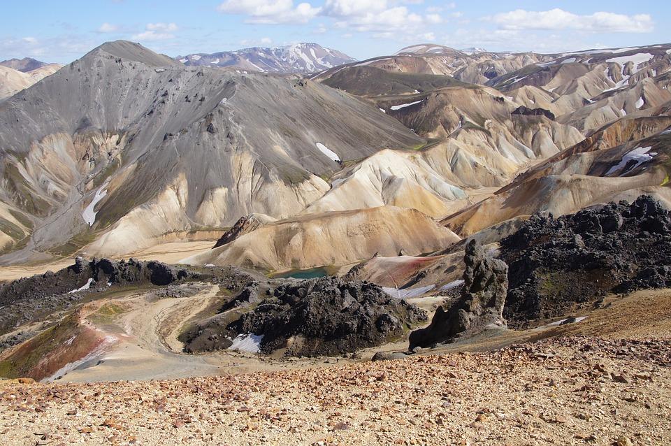 Iceland, Landmannalaugar, Mountain, Landscape, Hiking