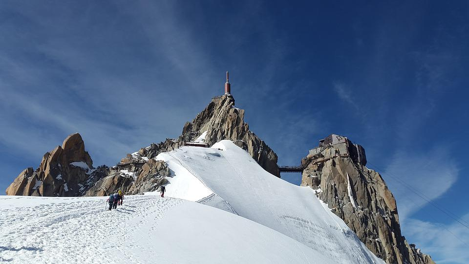 Snow, Mountains, People, Hiking, Mountaineering