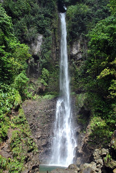 Dominica, Waterfall, Rainforest, Hiking, National Park
