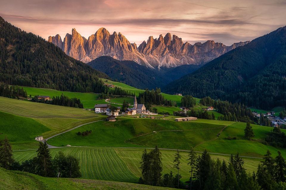 Funes, Dolomites, Italy, Landscape, Nature, Hiking, Sky