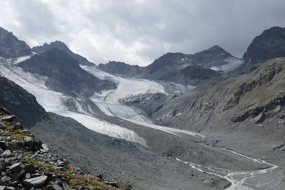 Mountains, Glacier, Alpine, Nature, Snow, Hiking Shoes