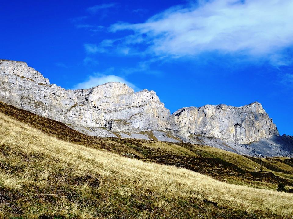 Rock Wall, Mountains, Switzerland, Hiking