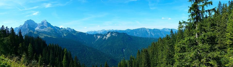 Karwendel, View, Mountains, Panorama, Hiking