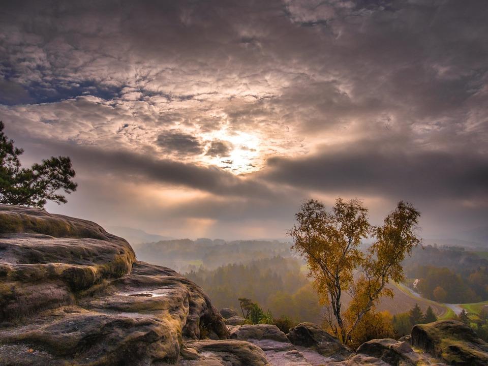 Mountains, Wintry, Autumn, Landscape, Hiking, Sun