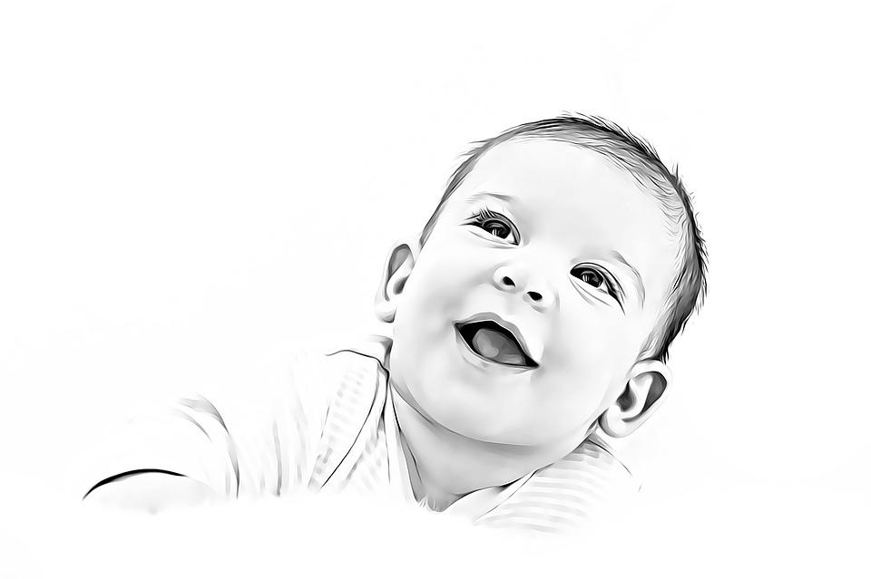 Cute, Child, Portrait, Baby, Joy, Cant, Hilarity