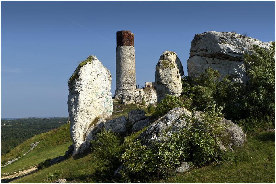 Olsztyn, The Ruins Of The, Castle, Rock, Upland, Hill