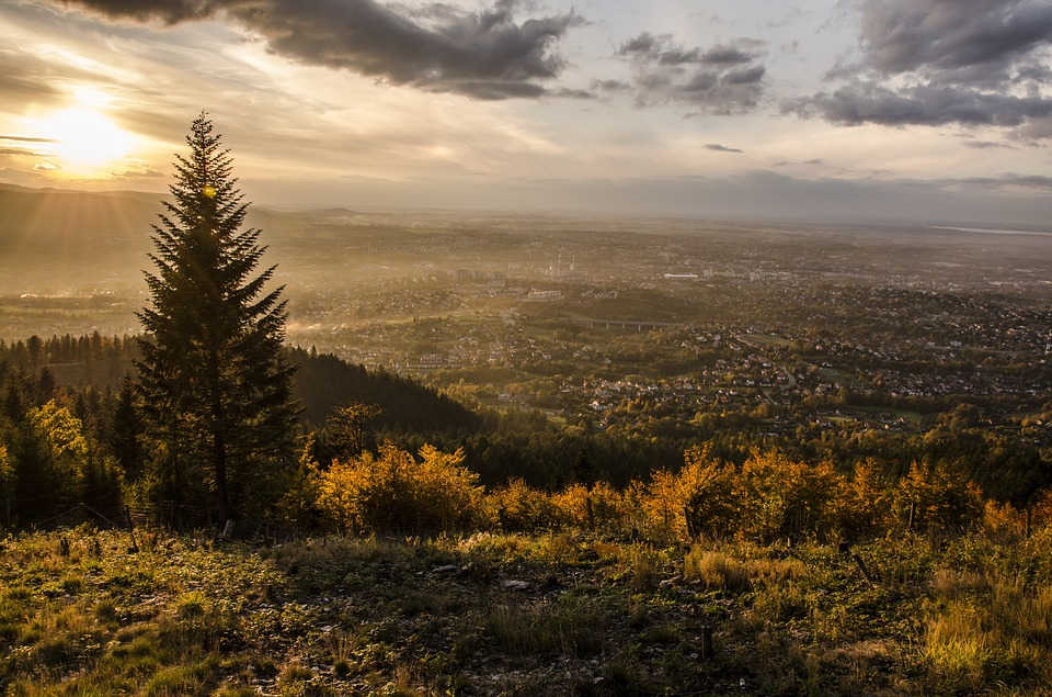 Mountains, Landscape, Nature, Sky, Clouds, Figure, Hill