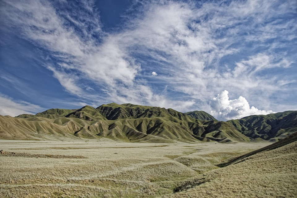 Kyrgyzstan, Mountains, Valley, Hill, Green, Landscape