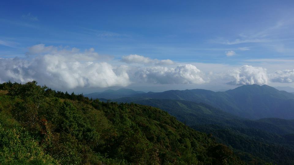 Sky, Mountain, Nature, Travel, Rock, Blue, Hill, Summer