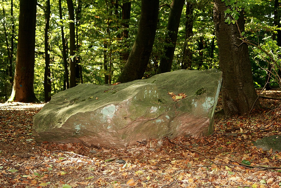 Stone, Forest, Large, Powerful, Enormous, Hill