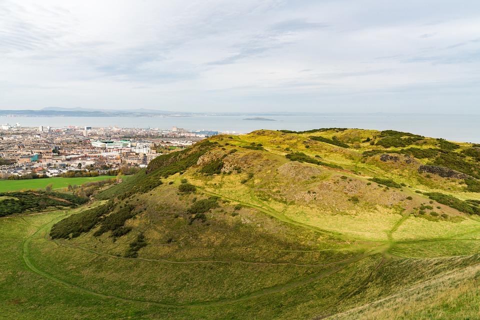 Edinburgh, Hill, City, England, Uk