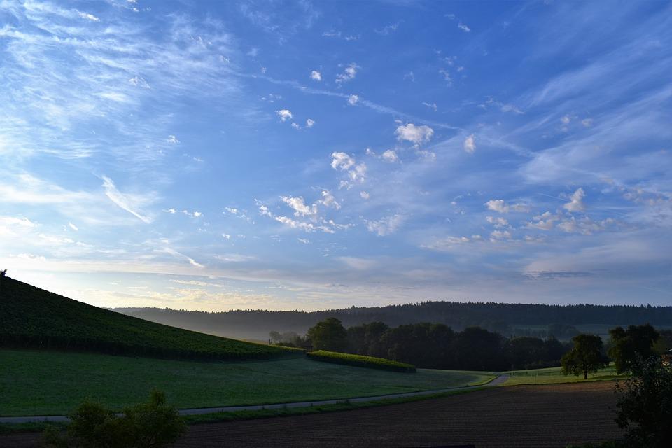 Landscape, View, Sunrise, Nature, Distant View, Hill