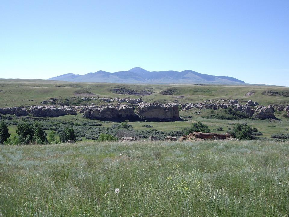 Meadow, Grass, Hills, Sky, Green, Landscape, Field